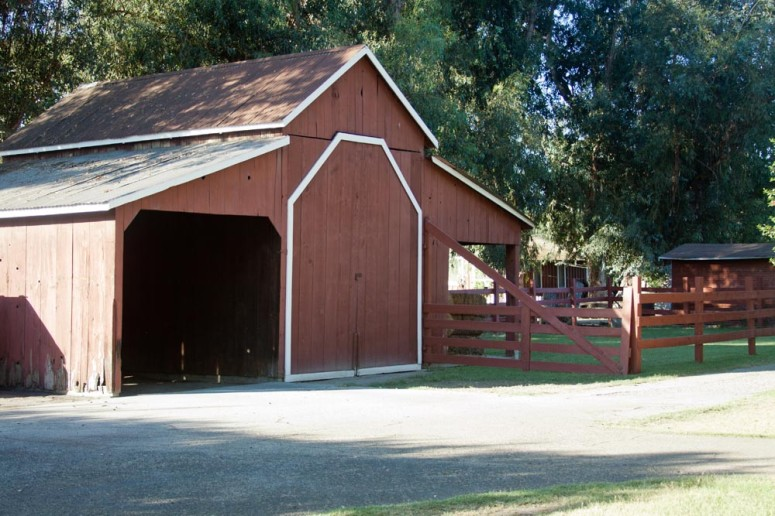 Paddison Farm's Red Barn with Corral and Outbuilding